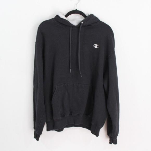 03be81958f7 Champion Other - Vintage Champion Hoodie Sweatshirt Black Mens L